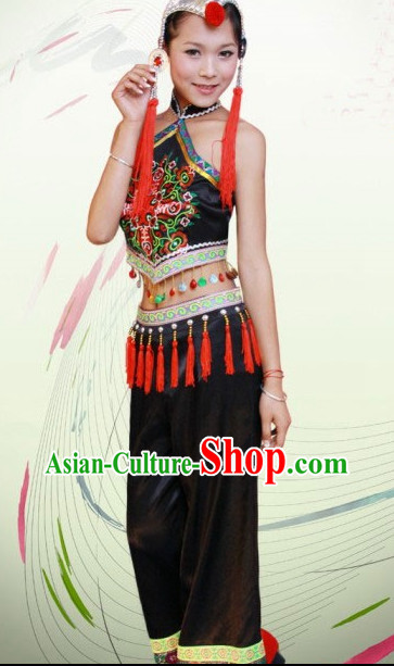 Chinese Costumes Hanfu Female Ethnic Groups Clothing