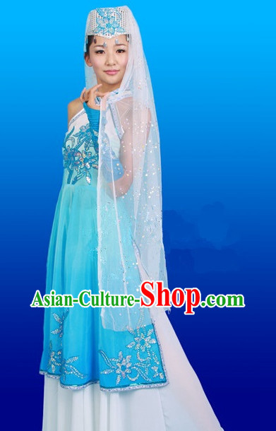 Chinese Costumes Female Ethnic Groups Clothes