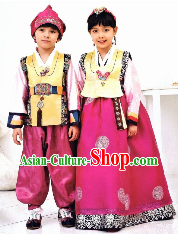 Korean Boys and Girls Fashion online Hanbok Costumes Clothes