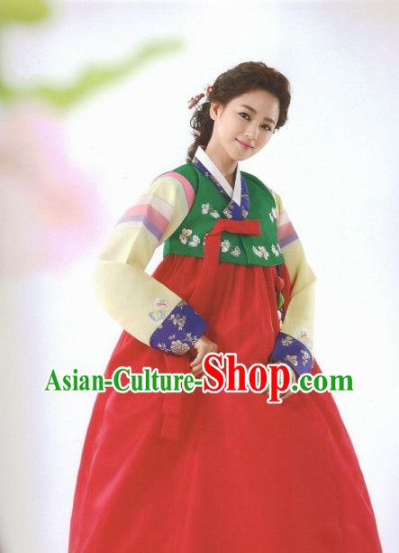 Korean Hanbok Female Clothing Fashion Clothes Korean Traditional Dresses