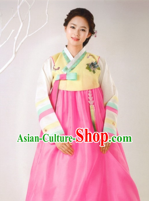 Korean Hanbok Female Clothing Ladies Fashion Clothes Korean Traditional Dresses