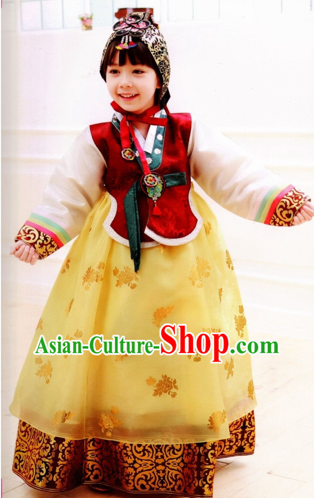 Korean Kids Traditional Clothes Hanbok Dress online Shopping Free Delivery Worldwide