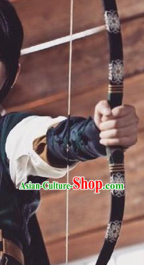 Asian Chinese Ancient Bow and Arrow Set Props
