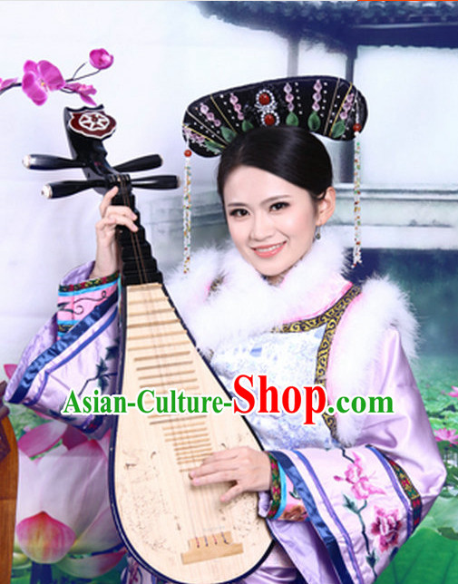 Asian Fashion Qing Manchu Cheongsam Clothes from China