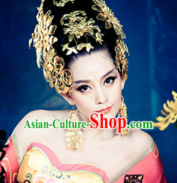 Chinese Traditional Wedding Hair Accessories Fascinators and Earrings