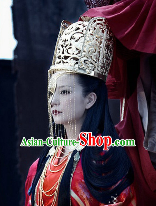 Chinese Traditional Handmade Crown with Hangings
