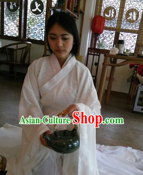 White Chinese Traditional Clothing Chinese Ancient Wise Woman Outfits