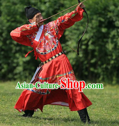 Chinese Traditional Clothing Chinese Ancient Archer Official Costume and Hat