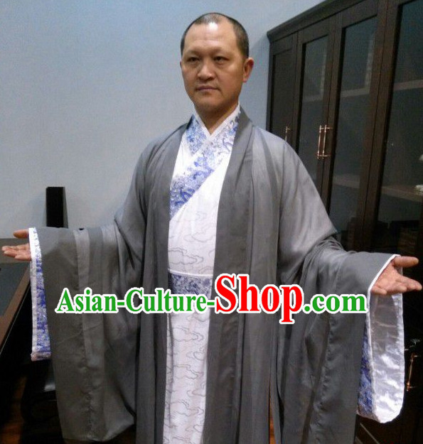 Chinese Traditional Clothing Chinese Ancient Reader Costumes for Man