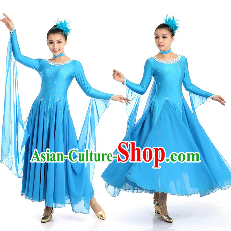 Ballroom Dancing Costumes Apparel Dance Stores Dance Gear Dance Attire and Hair Accessories Complete Set for Women