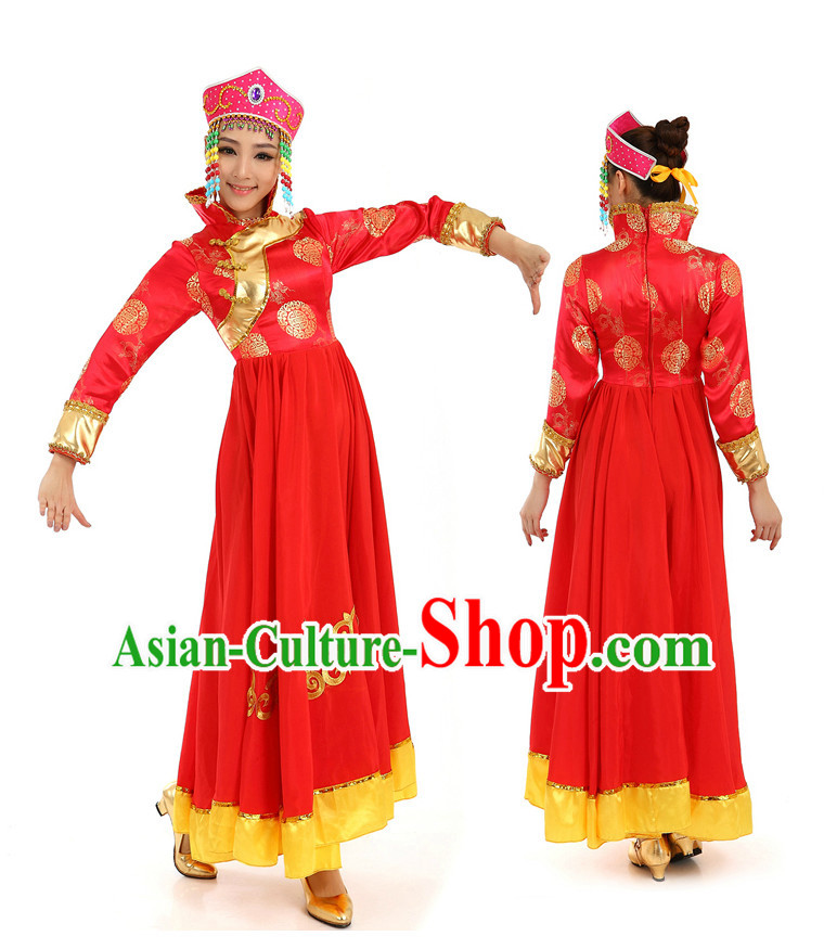Chinese Traditional Mongolia Dance Dostumes for Women