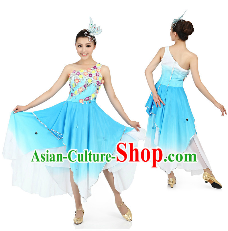Chinese Traditional Dancewear and Headpieces for Women