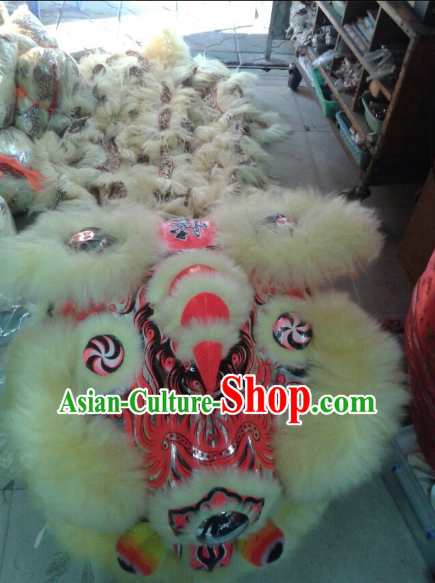 Top Handmade Traditional Chinese Liion Dancing Costumes Complete Set