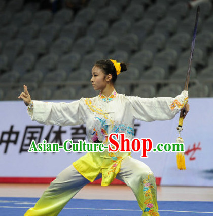 Top Phoenix Tai Chi Sword Clothing Yoga Wear Yang Tai Chi Quan Kung Fu Pants and Blouse for Women