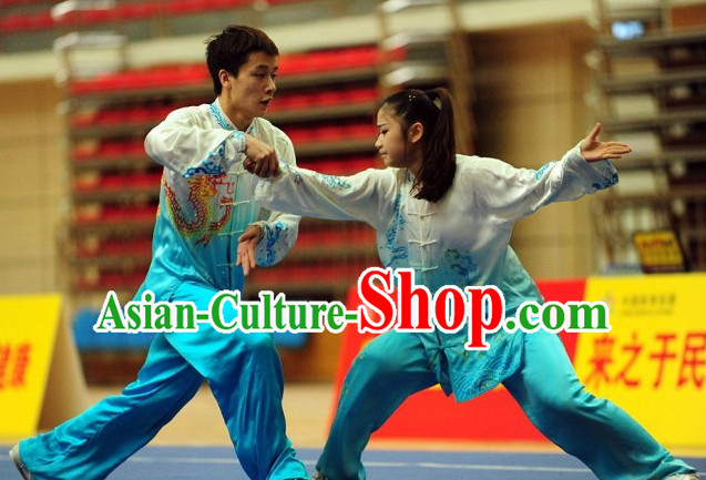 Top Two People Tai Chi Yoga Clothing Yoga Wear Yang Tai Chi Quan Kung Fu Uniforms for Men and Women