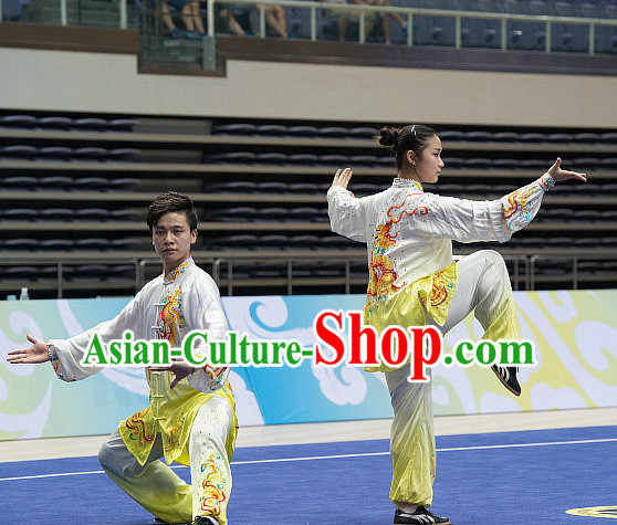 Top Color Transition Tai Chi Costumes Taijiquan Costume Aikido Chikung Tichi Uniforms Quigong Uniform Thaichi Martial Art Qi Gong Combat Clothing Competition Uniforms for Women or Men
