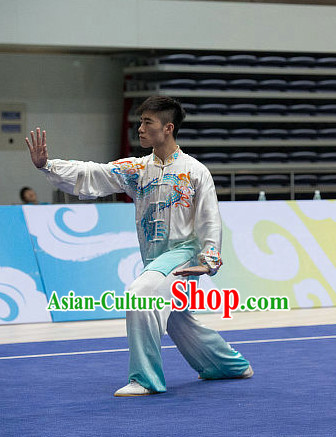 Top Tai Chi Costumes Taijiquan Costume Aikido Chikung Tichi Uniforms Quigong Uniform Thaichi Martial Art Qi Gong Combat Clothing Competition Uniforms for Men