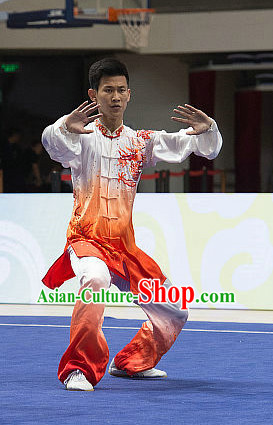 Top Color Changing Tai Chi Costumes Taijiquan Costume Aikido Chikung Tichi Uniforms Quigong Uniform Thaichi Martial Art Qi Gong Combat Clothing Competition Uniforms for Men