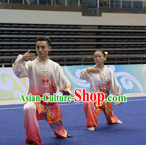 Top Color Changing Tai Chi Costumes Taijiquan Costume Aikido Chikung Tichi Uniforms Quigong Uniform Thaichi Martial Art Qi Gong Combat Clothing Competition Uniforms for Men or Women