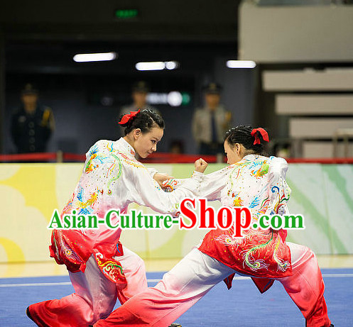 Top Tai Chi Championship Phoenix Embroidery Costumes Taijiquan Uniforms Martial Arts Qi Gong Kung Fu Combat Clothing Competition Uniform for Women