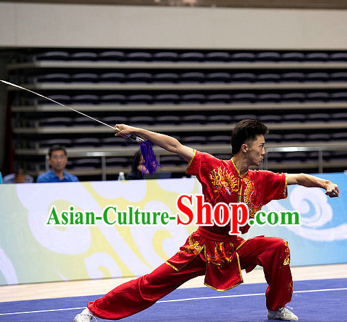 Top Martial Arts Competition Uniform Kung Fu Suit Eagle Fist Mantis Boxing Monkey Fist Gongfu Costumes Complete Set for Men