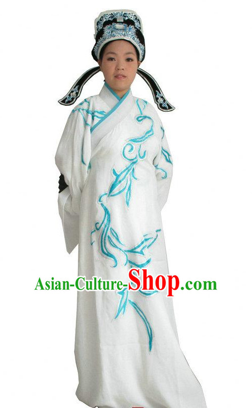 Chinese Classical Opera Costumes Long Sleeve Dance Costume Dance Supply Dance Apparel Theatrical Costumes Complete Set for Men
