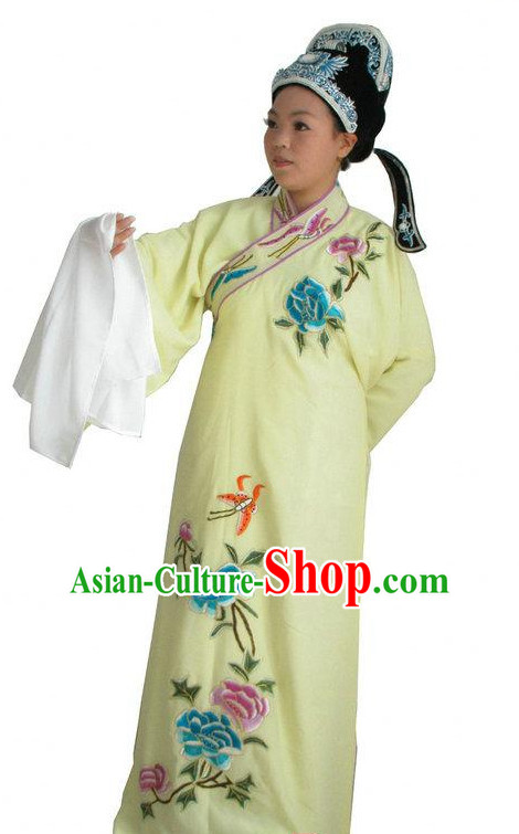 Chinese Opera Costumes Long Sleeve Dance Costume Dance Supply Dance Apparel Theatrical Costumes Complete Set for Men