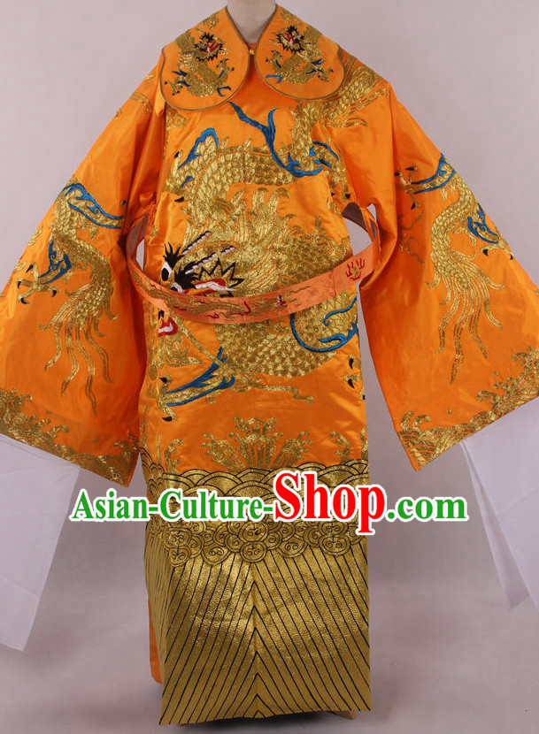 Chinese Beijing Opera Peking Opera Da Kao Long Dragon Robe Costumes Complete Set for Men