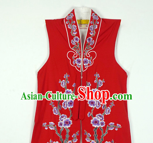 Chinese Beijing Opera Costumes Peking Opera Hua Tan Embroidered Flower Long Jacket or Women