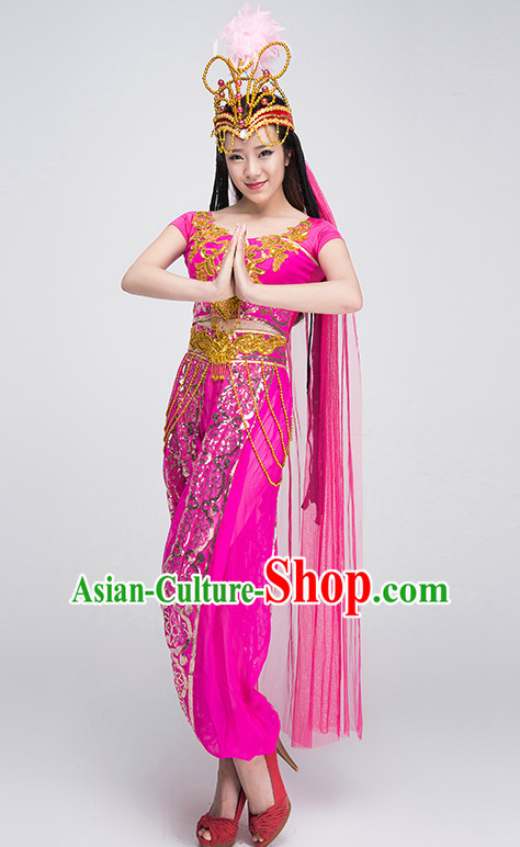 Traditional Chinese Xinjiang Dancing Suit Complete Set for Women