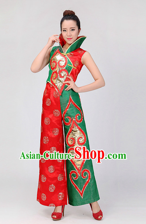 Traditional Chinese Yangge Dance Costumes for Competition