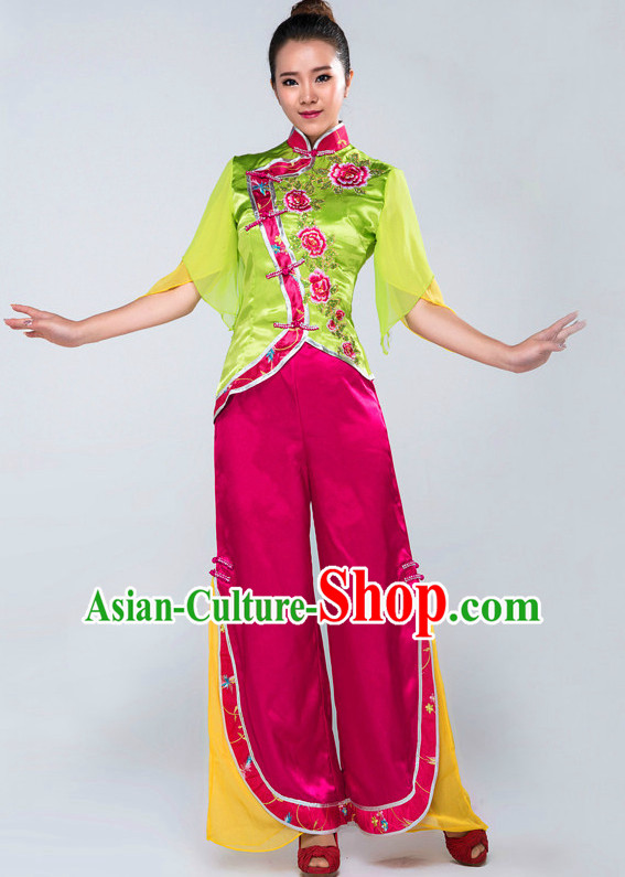 Chinese Classical Mandarin Competition Dance Costumes for Women