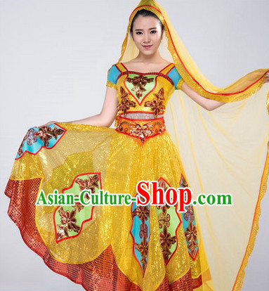 Indian Girls Dancewear Dance Costumes for Competition