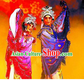 Chinese Culture Chinese Opera Costumes Chinese Cantonese Opera Beijing Opera Costumes Butterfly Love Costumes Complete Set