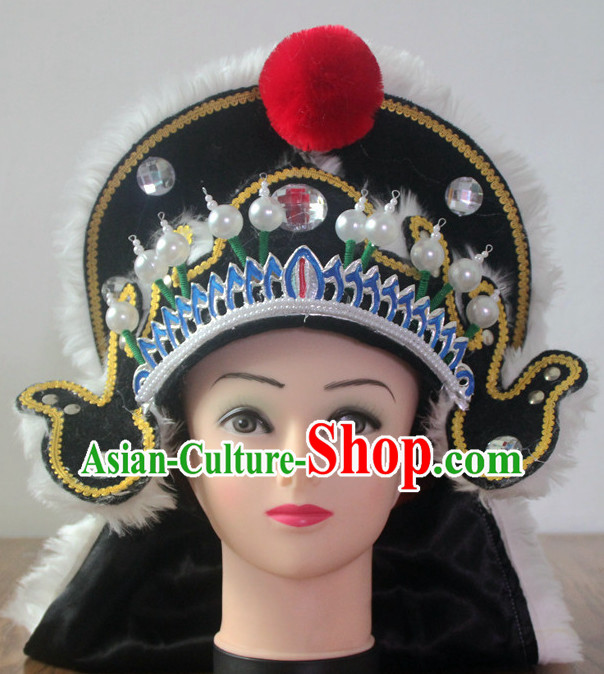 Professional Chinese Opera Headwear General Hat