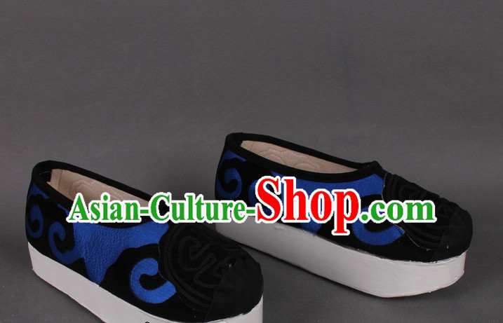 Chinese Beijing Opera Young Scholar Shoes for Men