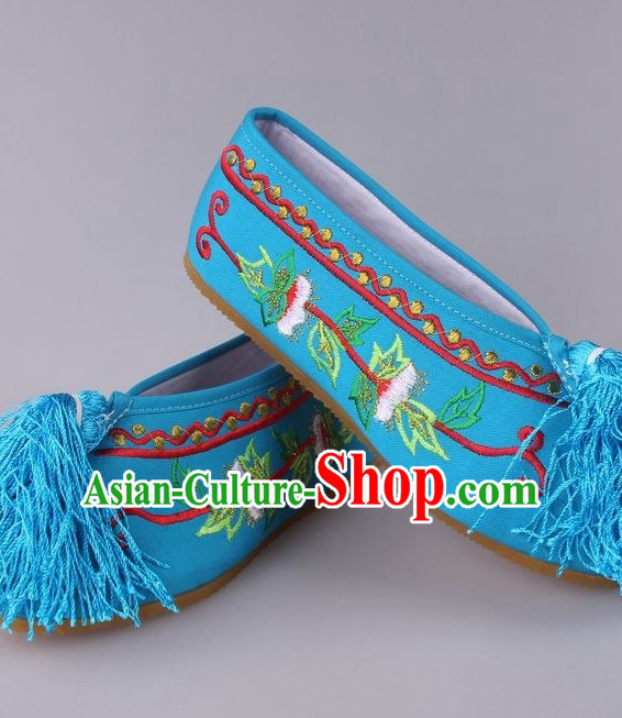 Chinese Beijing Opera Hua Tan Shoes for Girls