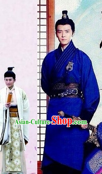 Chinese Kimono Dress and Headpieces Complete Set for Men