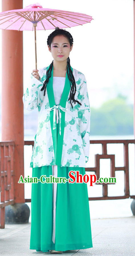 Chinese Traditional Hanfu Summer Dress for Women