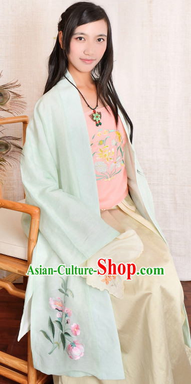Chinese Song Dynasty Folk Dress Summer Dresses for Women