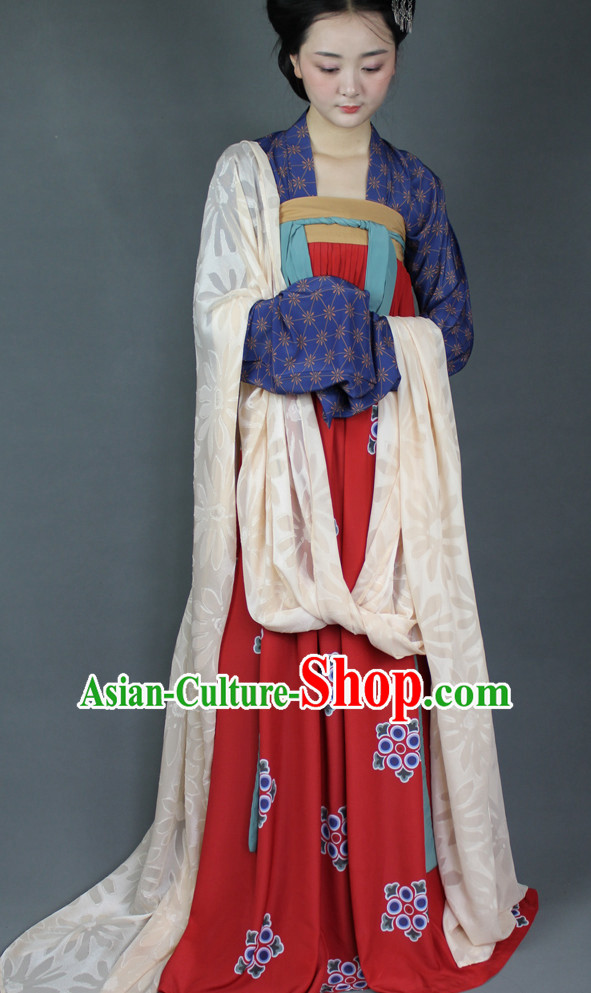 Chinese Tang Hanfu Designer Dresses Plus Size Costumes for Women