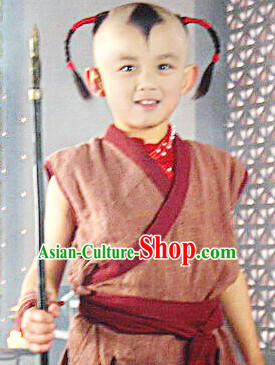 Ancient Chinese Na Zha Costumes Complete Set for Adults and Kids