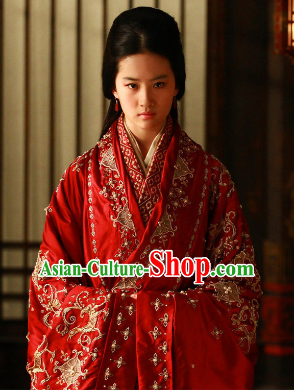 Ancient Chinese Princess Wedding Dress for Girls