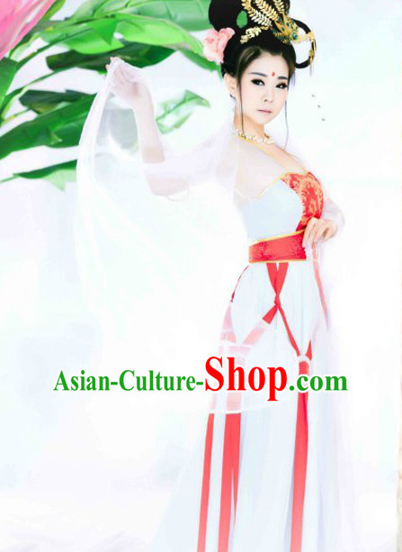 Tradiitonal Chinese Classical Dance Costumes Complete Set for Women