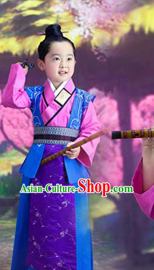 Ancient Chinese Handmade Black Wig for Kids