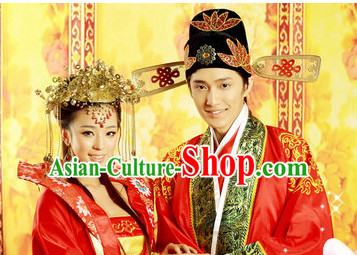 Ancient Chinese Wedding Hair Accessories Supply 2 Sets
