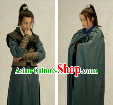 Chinese Ancient Swordsman Costumes Complete Set for Teenagers