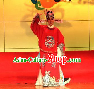 Chinese Beijing Opera Official Costumes and Hat for Men