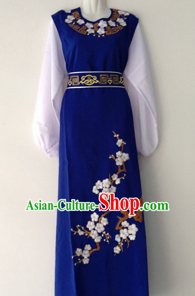 Chinese Opera Plum Blossom Embroidered Long Robe
