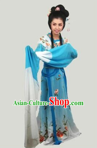 Long Sleeve Chinese Opera Fairy Dance National Costumes